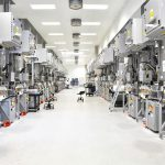 high Tech Industrie - Production of solar cells - Production rooms and machines